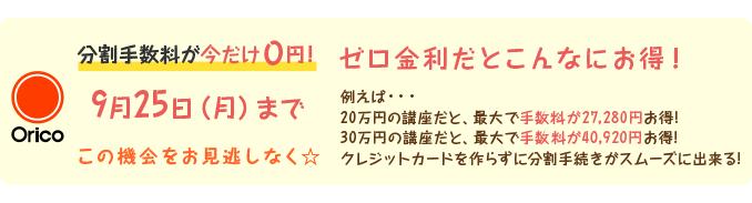 分割手数料が今だけ0円!